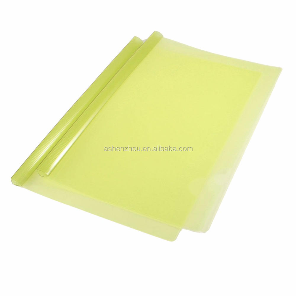 New design custom logo printed clear pumping rod file folder PVC slide bar transparent plastic report covers