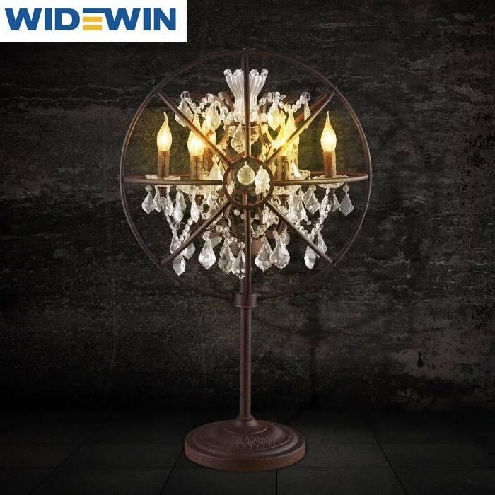 Antik yollar geri, ferforje kristal lamba İskandinav ikea cafe oturma odası lambalar ve fenerler, bireysellik yaratıcı masa