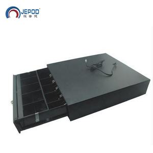 JEPOD JP-001 Good quality Five Grids 3 Section Lock Pos Register Machine Economical Metal Cabinet Cash Drawer For Pos System