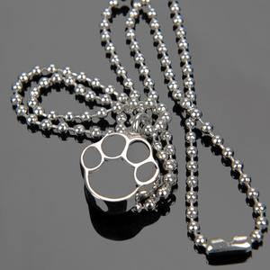 Stainless steel cremation dog pet necklace