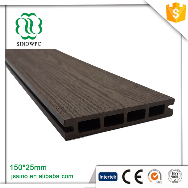 OEM standard wpc outdoor hollow decking