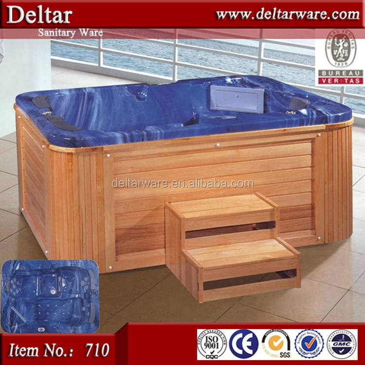 Big size 3 peopel whirlpool massage bathtub,air jet massage outdoor spa hot tub