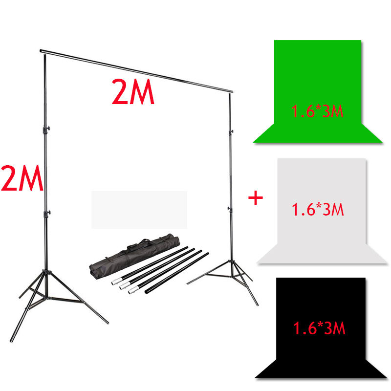 Photography Backdrops For Photo Studio Accessories Background Holder 3m/10Ft Photo Background Stand Kit Adjustable Portable