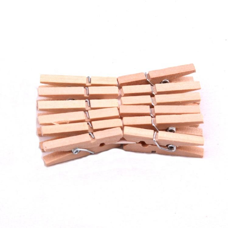 Hot Sell Small Cloth Pegs Clothespin Clip Wooden Clips Pegs