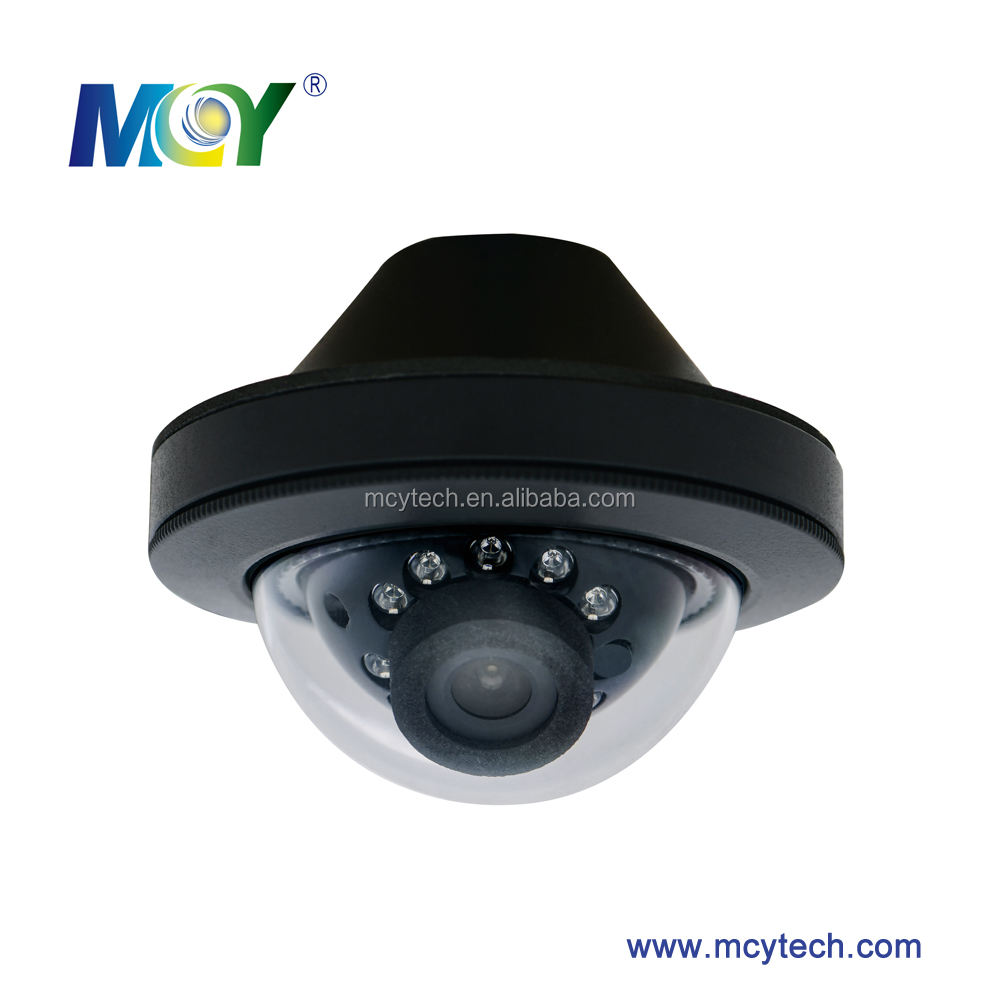 Vehicle Mini Dome camera HD 720P 1080P 700TVL IR night vision IP69 waterproof Metal housing use for Bus Train Subway