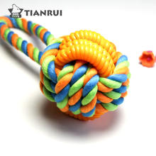 2018 years hot selling puppy dog pet rope chew toys balls
