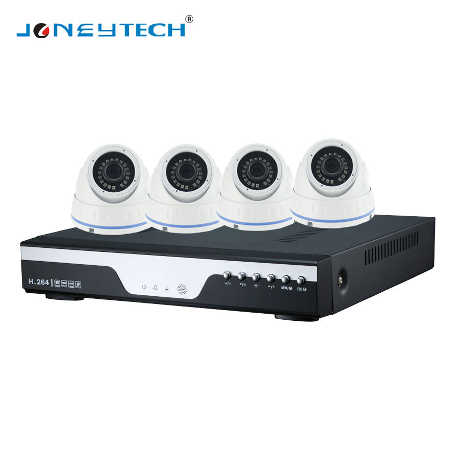 H.264/H.265 4ch 4.0 Megapixel 2592*1520 AHD 돔 CCTV kit 와 (High) 저 (resolution, mobile APP