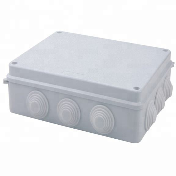 IP65 255*200*80 ABS PVC Wall Mountl Plastic Waterproof Electrical Junction Box For Power Supply
