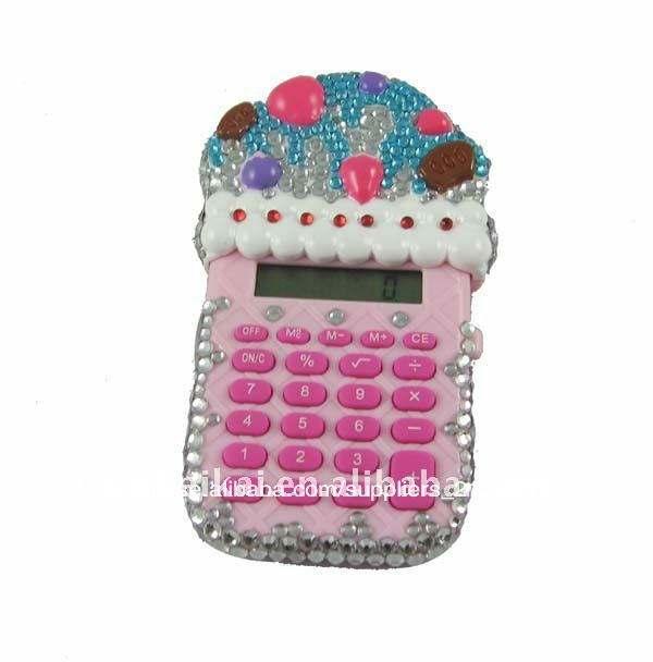 digital 12 bolo forma jóias calculadora para presentes da promoção