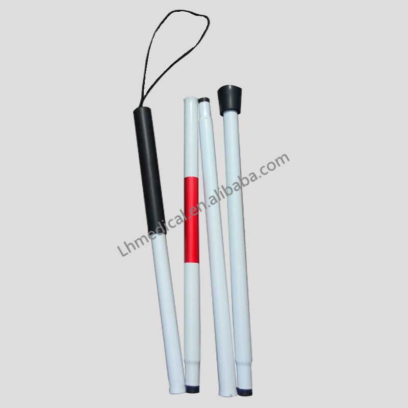 Ultralight folding 4 Section blind sticks for disabled people