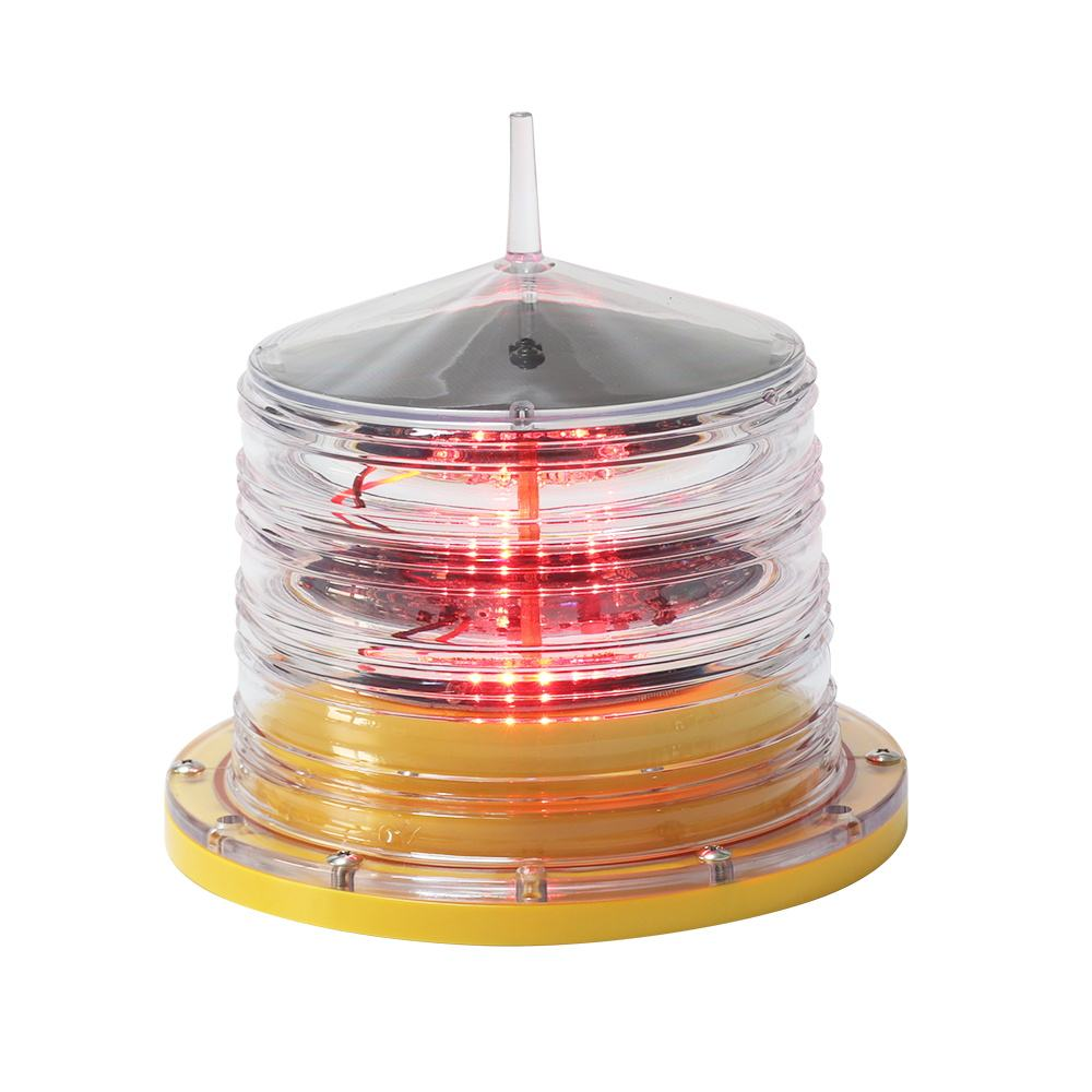 ICAO Red LED solar obstruction light for obstacle lighting beacon