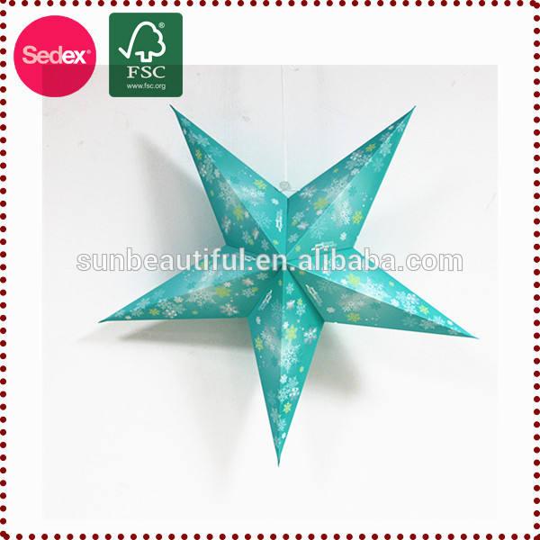 Item de promoção papel impresso costume lanterna para decoração de natal