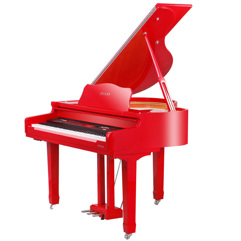 Wholesale 88 Keys Red Polish Digital Piano Triple Pedal Baby Grand Piano for Sale (HD-W120)