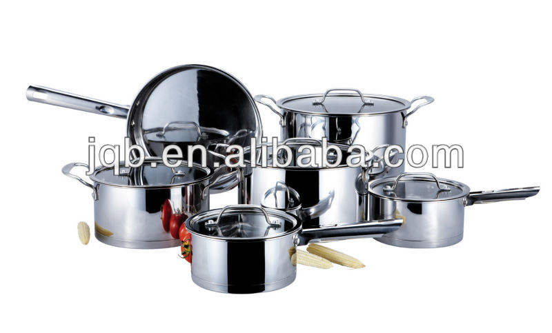 304 glass cover stainless steel cookware set