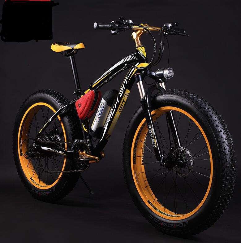 сразу картинки горный велосипед с широкими колесами желто оранжевый цвет первых дней