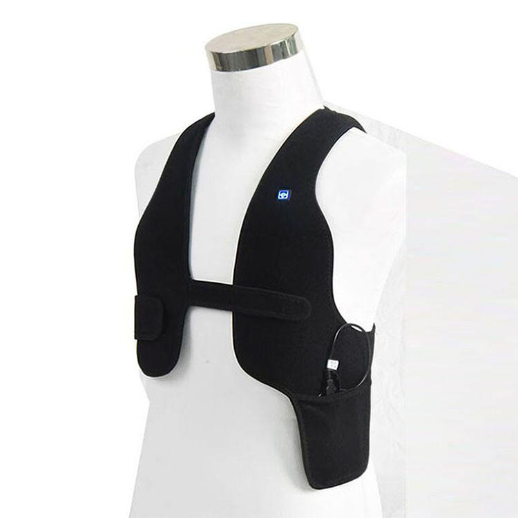Wholesale rechargeable mens body warmers black ems infrared heating system for clothes
