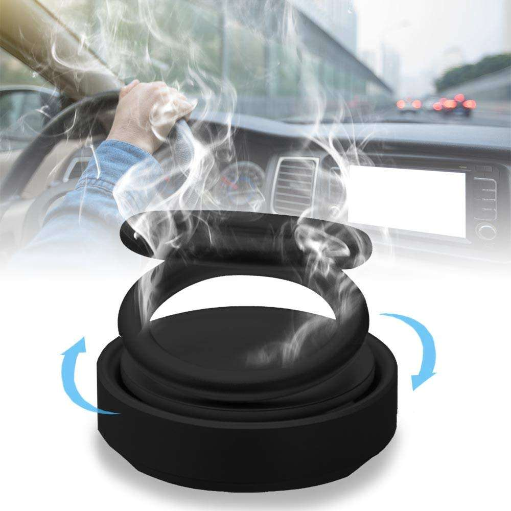 Car Aromatherapy Diffuser Magnetic 360 Rotating Car Fragrance Diffuser Double Ring Rotatable Essential Oil Air Diffuser for Car