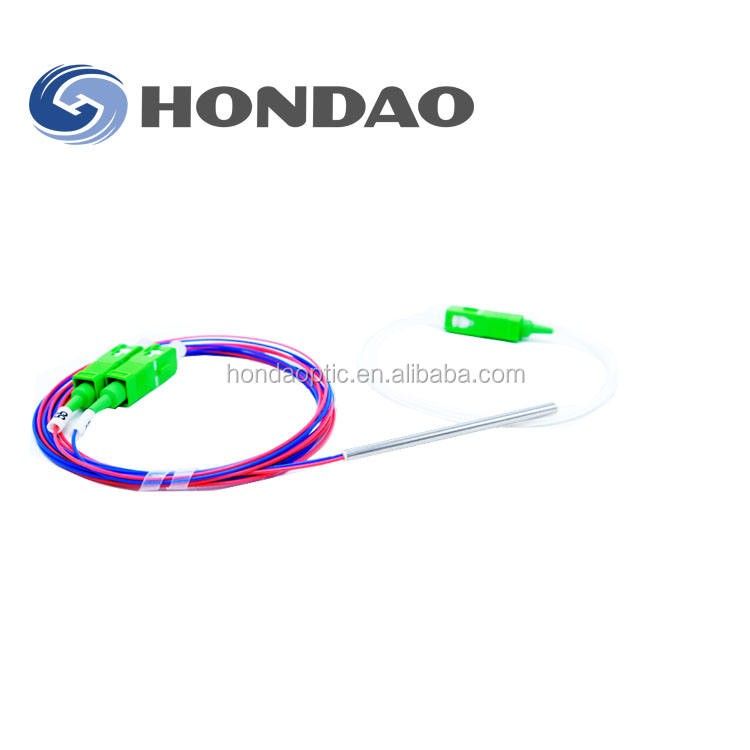 Hondao 1x48 weg nackten einzelnes single-mode-glasfaser-splitter-koppler FBT 48 way teiler koppler/singlemode plc