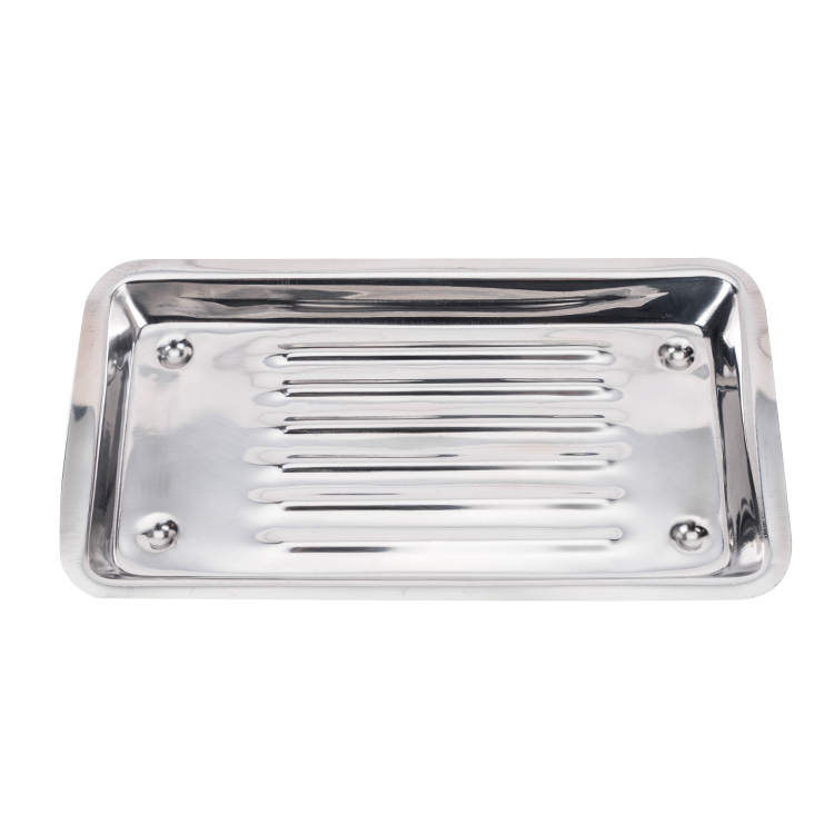 Hot Sale Dental Stainless Steel Cleaning Tray and Rectangular Metal Tray /Surgical Dental Instrument