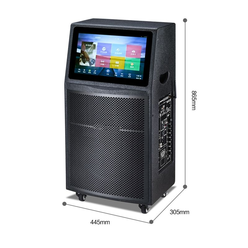 2019 New Trending HD-MI 15.6 Inch High-definition Screen Smart System Karaoke Speaker for Party/Singing/Dancing/Concert