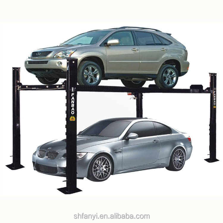 Best price 3T four post double parking hoist popular auto hoist car lift garage lift with CE approved