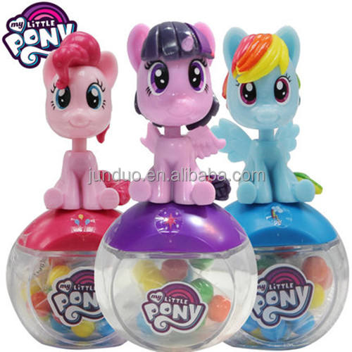 Cioccolato dolce candy container dispenser con bobble head little pony cartoon figura