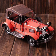 Cafe bar decoration handmade tin car model antique car model