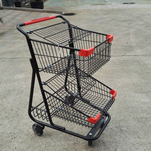 Top quality double basket shopping cart