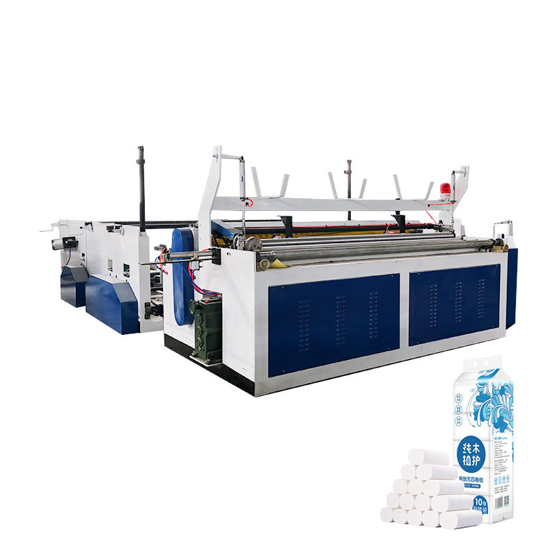 Henan fuyuan new design small machines for home business toilet tissue paper rewinding making machine