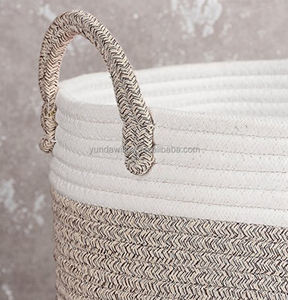 Extra Large Storage Baskets Cotton Rope Basket Woven Baby Laundry Basket with Handle for Diaper Toy Cute Neutral Home Decor