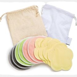Manufacturer custom wholesale leak-proof breathable reusable organic bamboo breastfeeding nursing bra pads