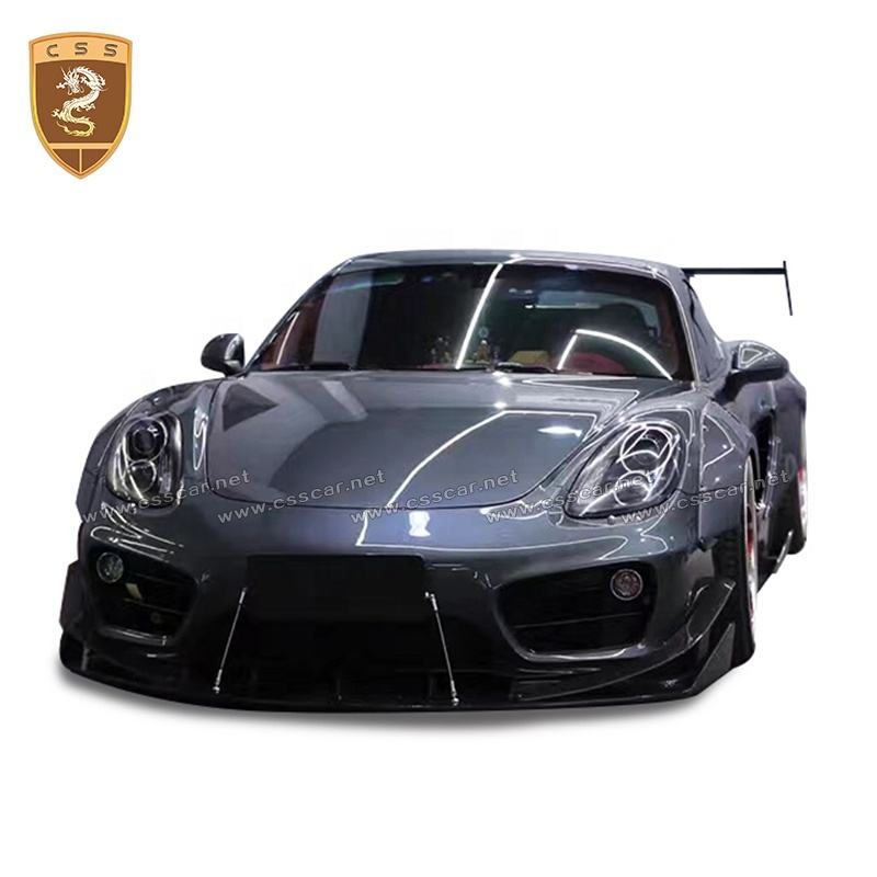 Great Quality Fiberglass Material MB Wide Car Body Kit Car Bumper For Porsche Cayman 981