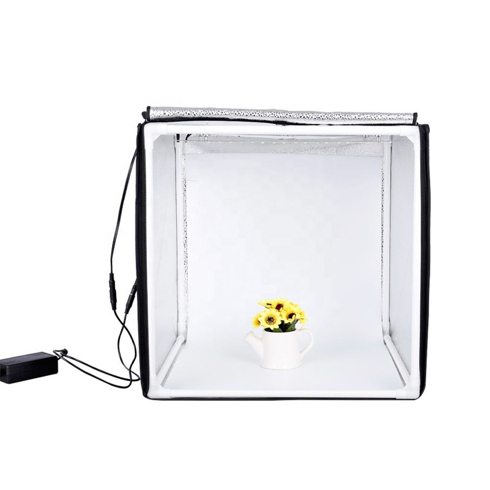 Foldable Portable 100cm Photography Softbox LED Lightbox Photo Studio with 3 color Backdrops and carry bag