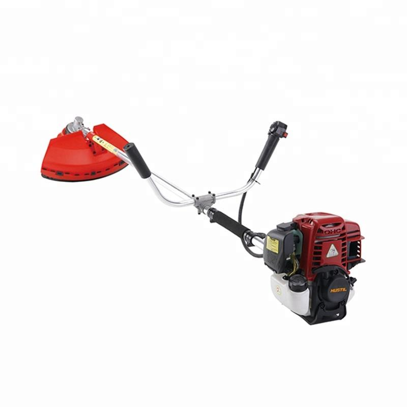 4 Stroke gasoline GX35 Grass Trimmer with metal blade and nylon head