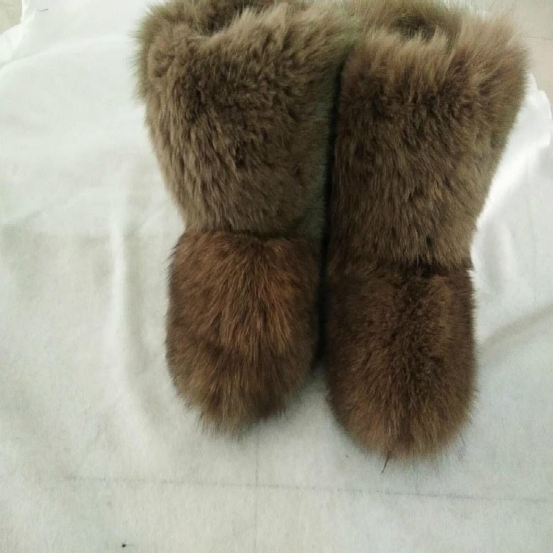 2019 wholesale new fashion real fox fur warm ladies winter snow boots