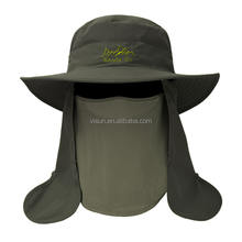 Outdoor Sun Cap Fishing Hat UPF 50+ UV Sun Protection hat With Removable Neck Flap, Face Cover