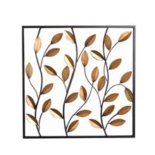Mayco Framed Leaves Wall Decor Panel, Wholesale Garden Decoration Metal Leaf Wall Art