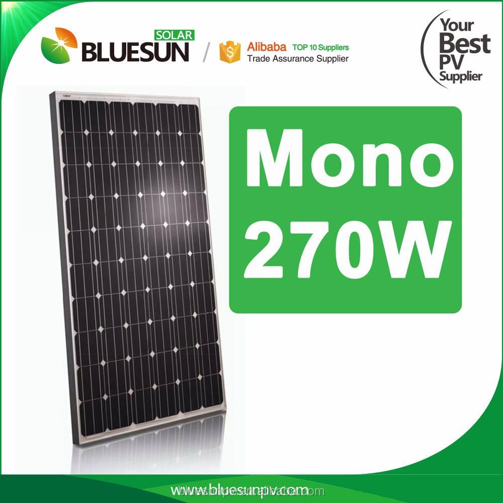 الصين أفضل مورد 270 واط أحادية الكهروضوئية الشمسية حادة لوحة للبيع