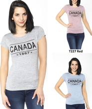 LADY T-SHIRT,SHORT SLEEVES WITH PRINTED CANADA