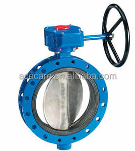 Acecare Stainless Steel Metal Seat Flanged Connection Triple-eccentric/Triple Offset Powder Butterfly Valve DN200
