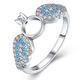 China Wholesale 925 Sterling Silver Jewelry Zircon Angel Wing Ring