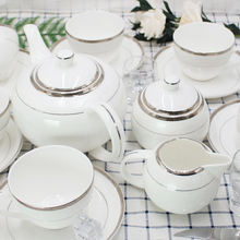 top quality 17 pcs  fine bone china ceramic tea set