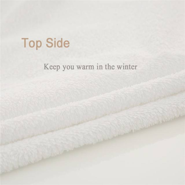 Coral Fleece Waterproof PUL Fabric for Mattress Protector