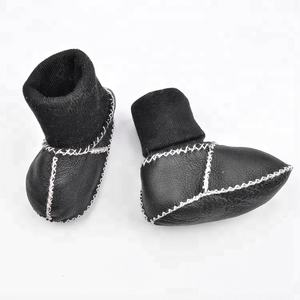 100% merino sheepskin soft sole toddler bootie girl boy baby boots infant shoes