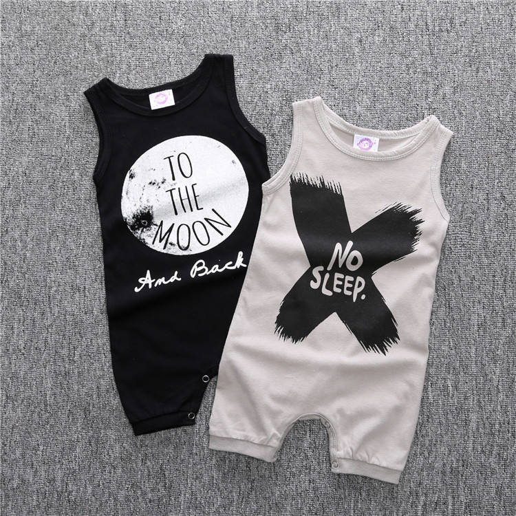 Cute Baby Boy Clothes Romper NO SLEEP TO THE MOON One Piece Clothes