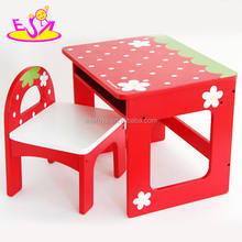 wholesale cheap wooden furniture table and chair for kids, wooden table and chair for children study W08G155