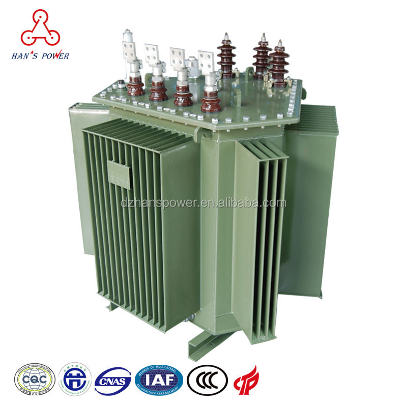 ) 저 (Low) No-load 현 oil 형 copper wire stepdown 변압기 20kv 에 400 볼트