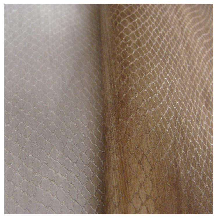 Populaire serpent PU tissu en cuir synthétique gaufré