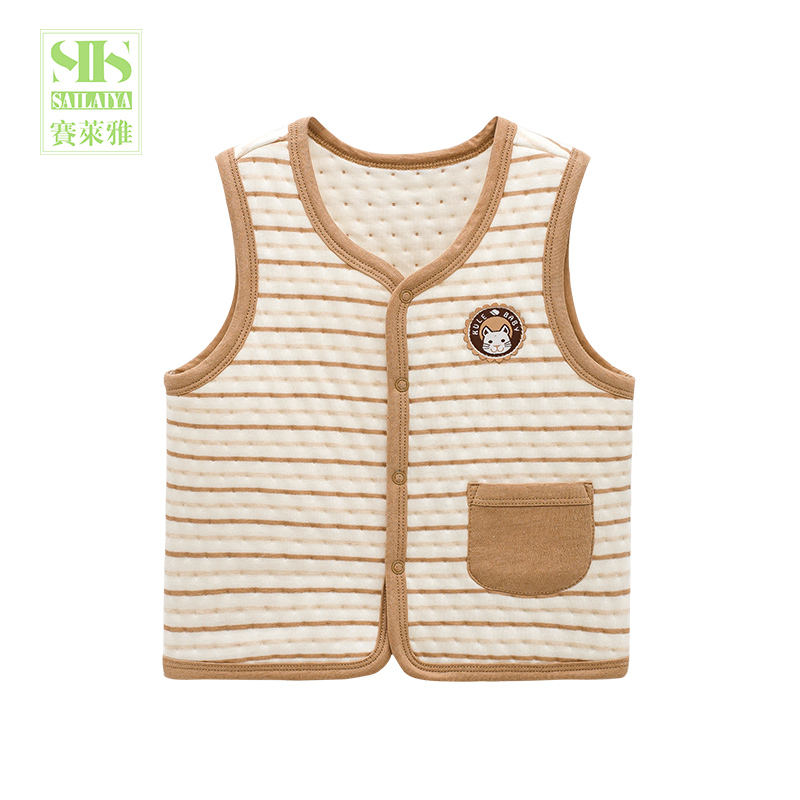 infant toddler baby warm soft sleeveless winter waistcoat baby vest cotton clothes