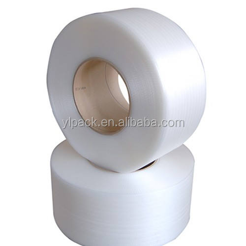 white color PP strapping plastic strap for automatic machine
